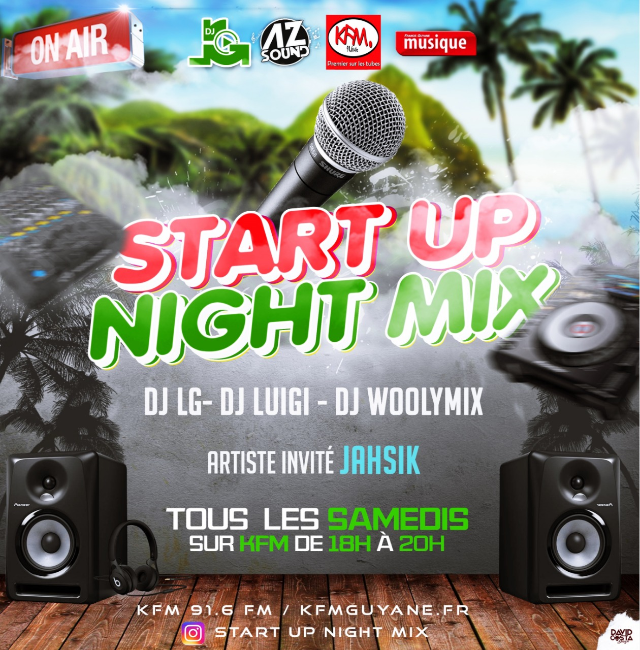 Start Up Night Mix sur KFM (91.6 fm)
