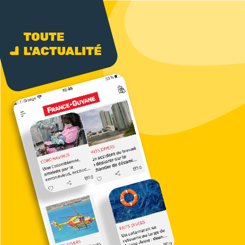 accueil de l'application mobile